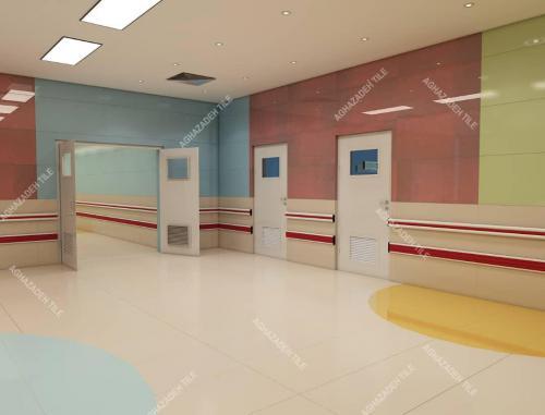 والگارد بیمارستانی ضربه گیر و هندریل بیمارستانی دستگیره های آنتی باکتریال بیمارستانی در انواع رنگها هماهنگ شده با رنگ کاشی های آنتی باکتریال