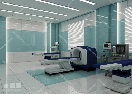 سبز بیمارستانی با سفید بیمارستانی در کف و بدنه ضد جرم و سایش و خش ١٢٠٦٠ پرسلان
