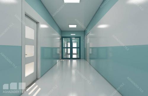 سبز بیمارستانی فیروزه ایی با سفید مات ١٢٠٦٠ راهرو بیمارستان