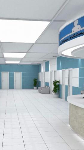 کاشی سبز آبی بیمارستانی با سفید بیمارستانی پرسلان ١٢٠٦٠ ضد خش و جرم
