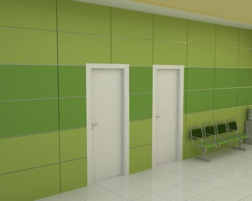 كاشي سبز بيمارستاني با سبز روشن بيمارستاني پرسلن محصول كاشي پارس