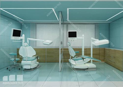 سرامیک بیمارستانی سبز در دنداپزشکی با سفید پرسلن بیمارستانی و کرم مات پرسلان ١٢٠٦٠