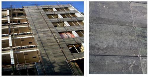سیستم اتصال با گیره مشهود ،تصویر مربوط پروژه ساختمان ایران سازه در خیابان ولیعصر، ناهید غربی