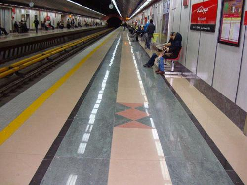 سراميك ١٢٠*٦٠ پرسلان شركت كاشي پارس پروژه مترو میرداماد تهران