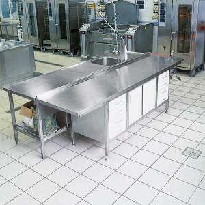 كاشي و سراميك ضد اسيد ٣٠٣٠ با بند ٤ ميل در كف آشپزخانه صنعتي و كارگاه توليد نان صنعتي با بندكشي ضد جرم و باكتري و چسب پرسلان
