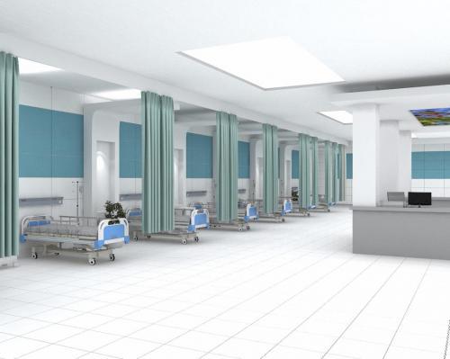 آبی بیمارستانی و سفید بیمارستانی پرسلان ١٢٠٦٠ در کف و دیوار بیمارستان-