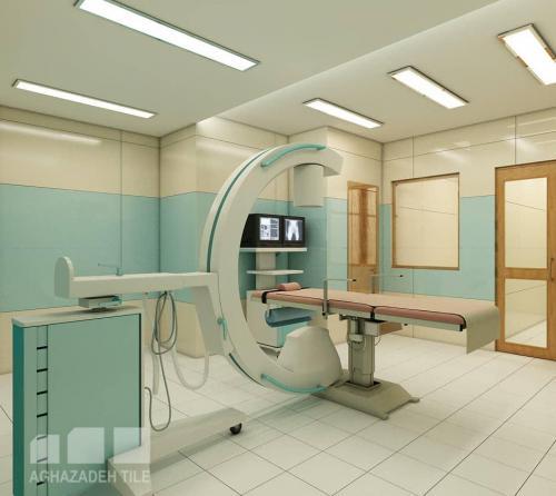 سبز بیمارستانی با کرم مات بیمارستانی پرسلان سایز ٦٠،٣٠ در بدنه