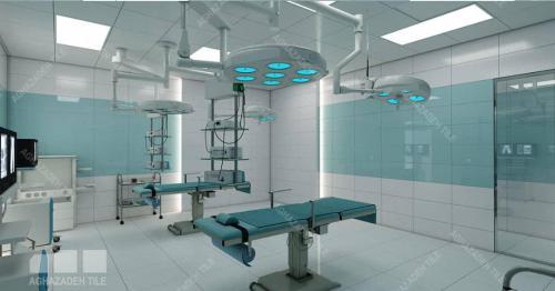 سبز بیمارستانی براق و سفید ساده بیمارستانی براق ٦٠٣٠ ترکیب اجرا شده در اتاق عمل