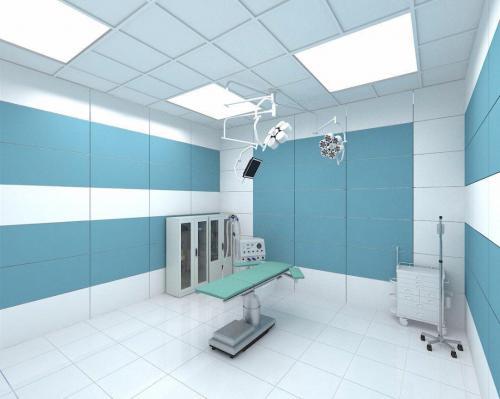 سفید ساده مات ١٢٠٦٠ با سبز آبی بیمارستانيی مات در کف و بدنه اتاق عمل