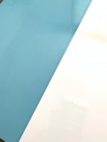 سفید ساده و سبز آبی براق بیمارستانی ٦٠٣٠ بدون بند رکتی