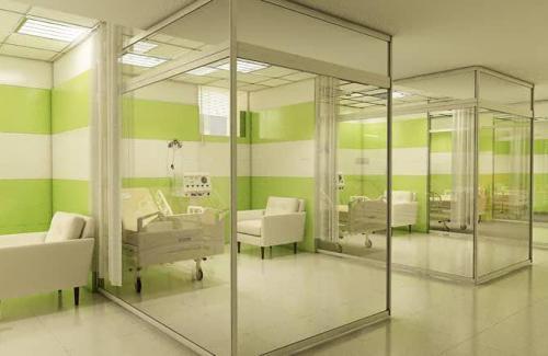 كاشي بيمارستاني سبز روشن با سفيد مات ١٢٠*٦٠ شركت كاشي پارس