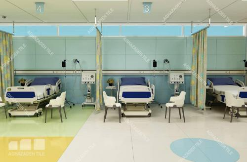 کاشی آبی بیمارستانی با کاشی سبز بیمارستانی در مراکز درمانی
