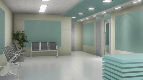 کاشی پرسلان بیمارستانی ١٢٠٦٠ سبز فیروزه ایی با کرم در ایستگاه پرستاری و راهرو بیمارستان