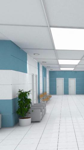 کاشی پرسلان سبز آبی بیمارستانی ١٢٠٦٠ با سفید مات در کف و بدنه