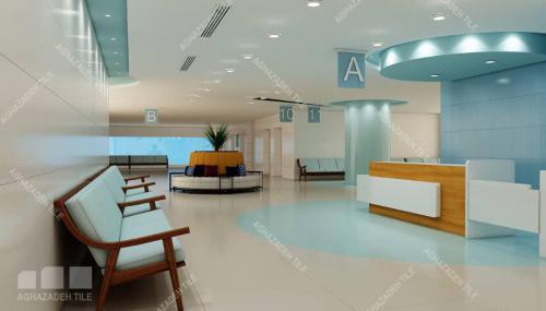 کاشی مراکز درمانی و اتاق عمل سبز بیمارستانی آبی بیمارستانی و سبز روشن بیمارستانی و سفید بیمارستانی مات و براق سایز ١٢٠٦٠ و ٦٠٣٠ و ٦٠٦٠ و ٤٥٩٠
